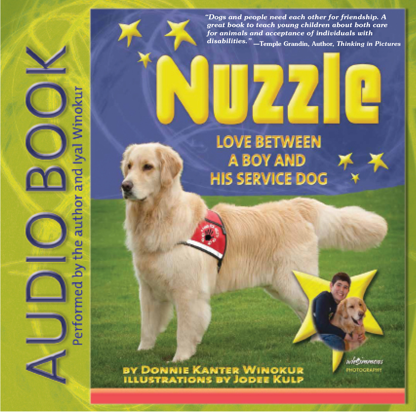 Nuzzle - Love Between a Boy and His Service Dog by Donnie Kanter Winokur