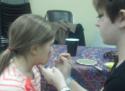 Facepainting at the Nuzzle Party